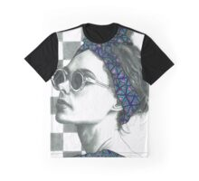 Summer In Paris Vintage Print  Graphic T-Shirt
