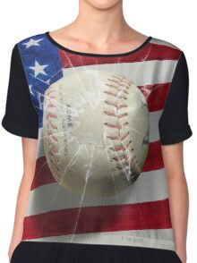 Baseball - New York, New York Chiffon Top