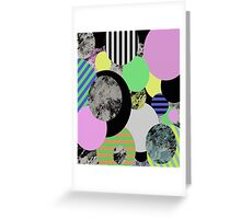 Cluttered Circles Greeting Card