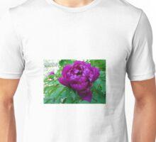 SUPER SIZED PURPLE BLACK PEONY Unisex T-Shirt