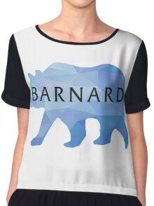 Barnard College Bear Chiffon Top