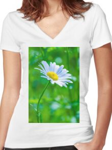 Daisy 6 Women's Fitted V-Neck T-Shirt