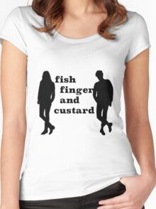 Fish finger and custard Women's Fitted Scoop T-Shirt