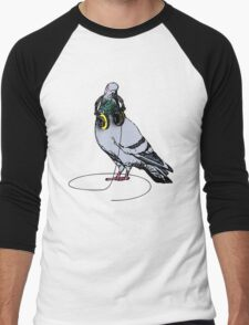 Techno Pigeon Men's Baseball ¾ T-Shirt