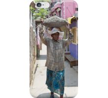 A lady labourer carrying cement on her head in Cochin India iPhone Case/Skin