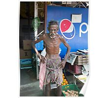 Stall Holder in Cochin India Poster