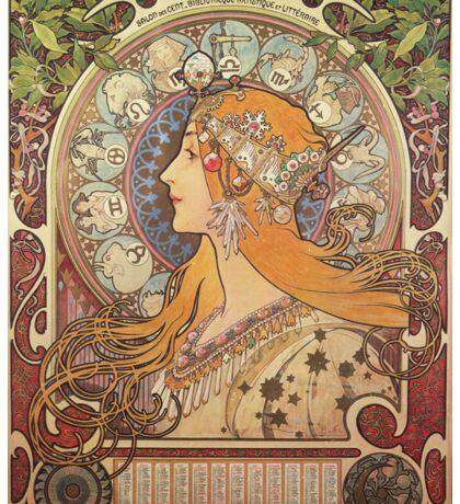 Alphonse Mucha Art Nouveau - La Plume Sticker