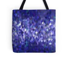 Blue Harlequin Abstract Pattern  Tote Bag