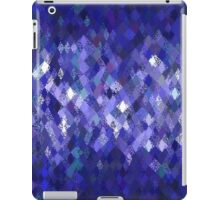 Blue Harlequin Abstract Pattern  iPad Case/Skin