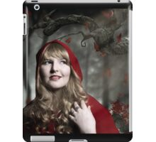 Red Riding Hood in the dark forest iPad Case/Skin