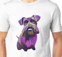 Purple Schnauzer Art Unisex T-Shirt