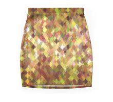 Autumn Colours Harlequin Abstract Pattern  Mini Skirt