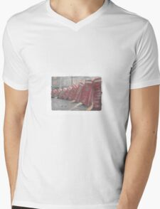 Falling phoneboxes Mens V-Neck T-Shirt