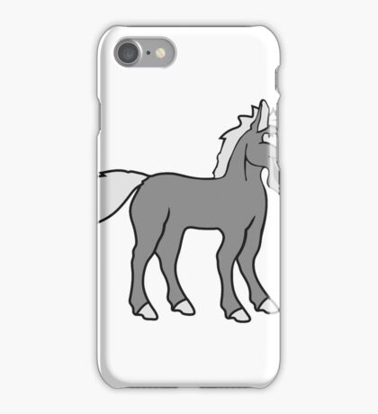 funny silly crazy comic cartoon horse laugh silly stallion donkey iPhone Case/Skin