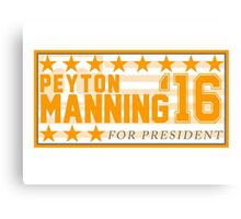 Peyton Manning for President Campaign Sticker Canvas Print