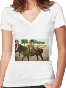 Cattle Drive 12 Women's Fitted V-Neck T-Shirt
