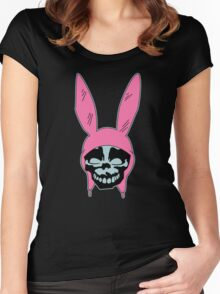 Louise Belcher: Skull Blue Cavity (version one) Women's Fitted Scoop T-Shirt