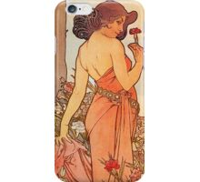 Alphonse Mucha - Art Nouveau - Red Flower iPhone Case/Skin