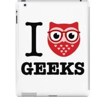 I Owl Geeks (love heart) iPad Case/Skin