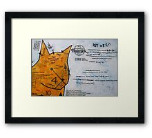 detail shot- KIT SET CAT Framed Print