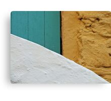 A Wall, A Gate, and A Staircase Canvas Print