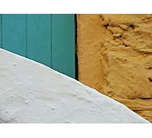 A Wall, A Gate, and A Staircase Photographic Print