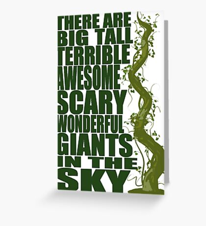 There Are Giants in the Sky! Greeting Card