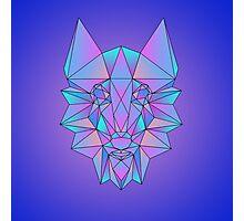 Geometric-Wolf Photographic Print