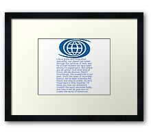 Spaceship earth Framed Print