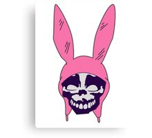 Louise Belcher: Skull Dark Purple Cavity (version three) Canvas Print