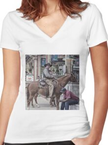 Cattle Drive 15 Women's Fitted V-Neck T-Shirt