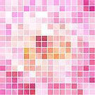 Pink Mosaic Tile Effect  by Ra12