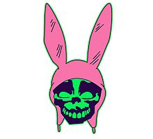 Louise Belcher: Skull Green Hue (version four) Photographic Print