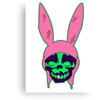 Louise Belcher: Skull Gold Tooth & Green Hue (version five) Canvas Print