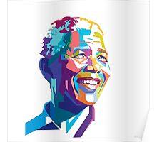 NELSON MANDELA COLORFULL  Poster