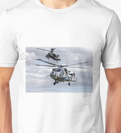 AgustaWestland AW159 Wildcat HMA2 & Apache AH1 Helicopters Unisex T-Shirt