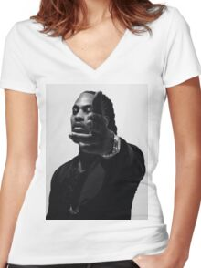 Waka Flocka Flame Women's Fitted V-Neck T-Shirt