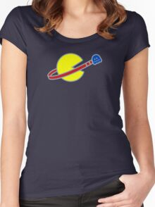 Lego Space Pac-Man (Scared Ghost) Women's Fitted Scoop T-Shirt