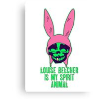 Louise Belcher: Skull Gold Tooth & Spirit Animal (version six) Canvas Print