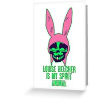 Louise Belcher: Skull Gold Tooth & Spirit Animal (version six) Greeting Card