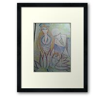 Group of characters with pipes Framed Print