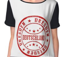 Stamp Of Dresden Chiffon Top