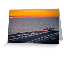 Military aircraft take off Greeting Card