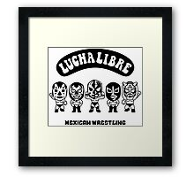 mexican wrestling lucha libre3 Framed Print