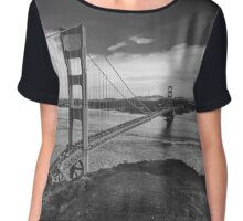 Black and White Golden Gate Bridge Chiffon Top