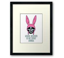 Louise Belcher: Skull Spirit Animal (version seven) Framed Print