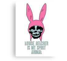 Louise Belcher: Skull Spirit Animal (version seven) Canvas Print