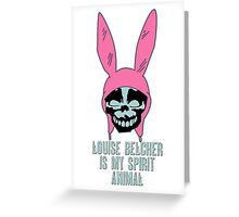 Louise Belcher: Skull Spirit Animal (version seven) Greeting Card