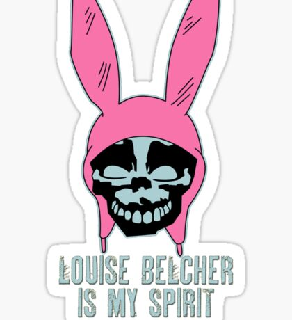 Louise Belcher: Skull Spirit Animal (version seven) Sticker