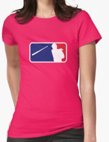 Jose Bautista bat flip MLB logo Womens Fitted T-Shirt